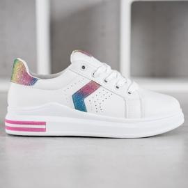 SHELOVET Sneakersy Z Brokatowymi Wstawkami 4