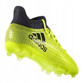 Buty piłkarskie adidas X 17.1 Jr S82297 wielokolorowe zielone 1