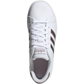 Buty adidas Grand Court Jr EF0101 białe czarne 1