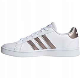 Buty adidas Grand Court Jr EF0101 białe czarne 2