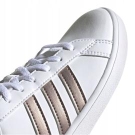 Buty adidas Grand Court Jr EF0101 białe czarne 3