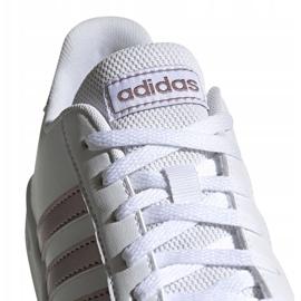 Buty adidas Grand Court Jr EF0101 białe czarne 4