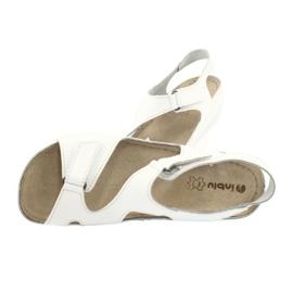 Inblu obuwie damskie sandały 158D113 białe 4