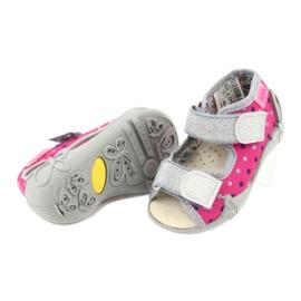 Befado żółte obuwie dziecięce 342P008 różowe szare 4