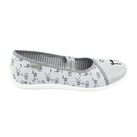 Befado obuwie młodzieżowe 345Q163 szare 2
