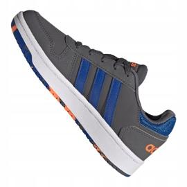 Buty adidas Hoops 2.0 Jr FW3173 szare 6