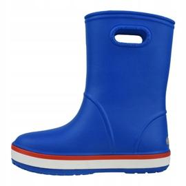 Kalosze Crocs Crocband Rain Boot Kids 205827-4KD niebieskie 1