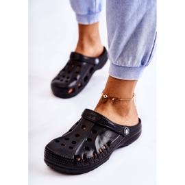 Flameshoes Damskie Klapki Czarne Lekkie Kroksy Eva 1