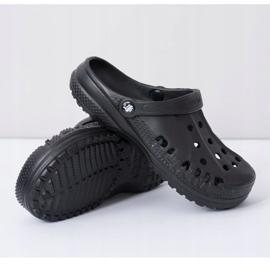 Flameshoes Damskie Klapki Czarne Lekkie Kroksy Eva 5