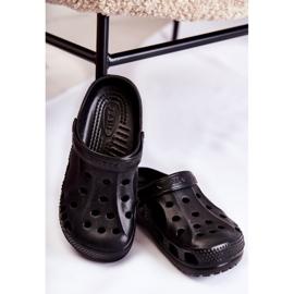 Flameshoes Damskie Klapki Czarne Lekkie Kroksy Eva 2