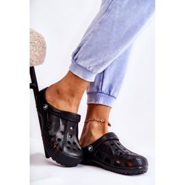Flameshoes Damskie Klapki Czarne Lekkie Kroksy Eva 3