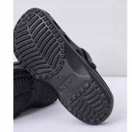 Flameshoes Damskie Klapki Czarne Lekkie Kroksy Eva 6