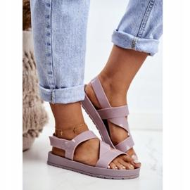 Damskie Sandały Pachnące Gumowe ZAXY Beżowe DD285066 beżowy 2