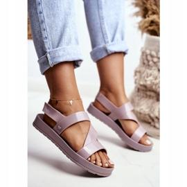 Damskie Sandały Pachnące Gumowe ZAXY Beżowe DD285066 beżowy 5