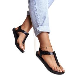 Damskie Sandały Pachnące Gumowe ZAXY Czarne DD285039 2