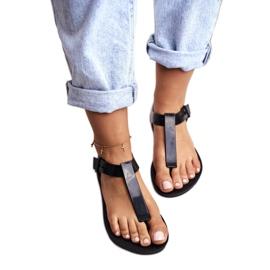 Damskie Sandały Pachnące Gumowe ZAXY Czarne DD285039 4