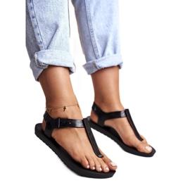 Damskie Sandały Pachnące Gumowe ZAXY Czarne DD285039 1