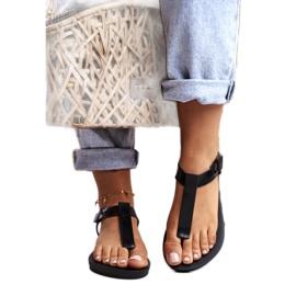 Damskie Sandały Pachnące Gumowe ZAXY Czarne DD285039 3