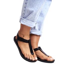 Damskie Sandały Pachnące Gumowe ZAXY Czarne DD285039 5