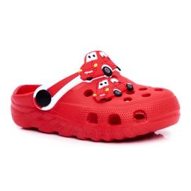 Bona Klapki Dziecięce Piankowe Kroksy Czerwone Auta Bruno 5