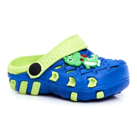 Klapki Dziecięce Piankowe Kroksy Granatowe Krokodyl Casper niebieskie żółte 4