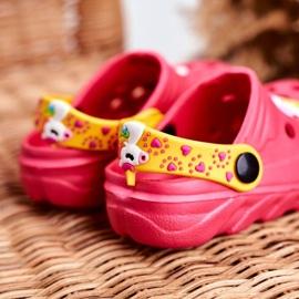 Bona Klapki Dziecięce Piankowe Kroksy Różowe Jednorożec Lily żółte 4
