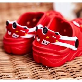 Bona Klapki Dziecięce Piankowe Kroksy Czerwone Auta Bruno 3