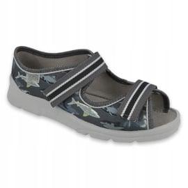 Befado obuwie dziecięce 969Y158 szare 1