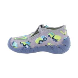 Befado obuwie dziecięce 110P371 niebieskie szare zielone żółte 1