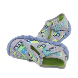 Befado obuwie dziecięce 110P371 niebieskie szare zielone żółte 4