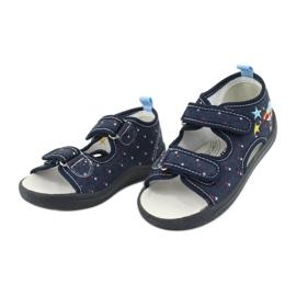 American Club American sandałki buty dziecięce wkładka skórzana TEN28 granatowe 2