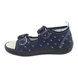 American Club American sandałki buty dziecięce wkładka skórzana TEN28 granatowe 1