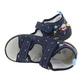 American Club American sandałki buty dziecięce wkładka skórzana TEN28 granatowe 4