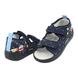 American Club American sandałki buty dziecięce wkładka skórzana TEN28 granatowe 3