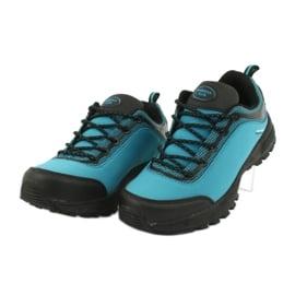 Buty sportowe softshell wodoodporne American Club HL05 czarne niebieskie 2