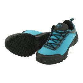 Buty sportowe softshell wodoodporne American Club HL05 czarne niebieskie 3