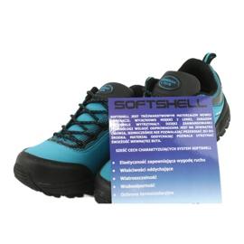 Buty sportowe softshell wodoodporne American Club HL05 czarne niebieskie 5