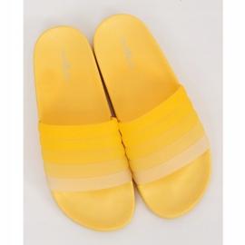 Klapki damskie żółte K-9183 Yellow 3