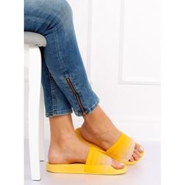 Klapki damskie żółte K-9183 Yellow 1
