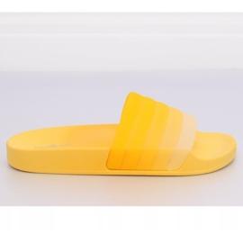 Klapki damskie żółte K-9183 Yellow 2