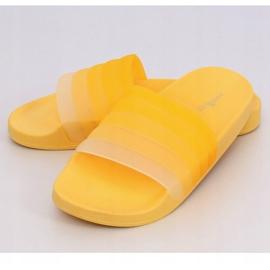 Klapki damskie żółte K-9183 Yellow 4