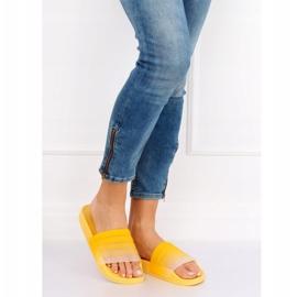 Klapki damskie żółte K-9183 Yellow 5