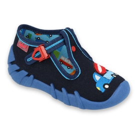 Befado obuwie dziecięce 110P385 granatowe niebieskie 1