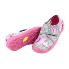 Befado obuwie dziecięce 122X002 różowe szare 4