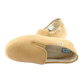 Befado obuwie męskie pu 991M001 brązowe 4