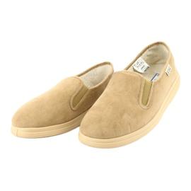Befado obuwie męskie pu 991M001 brązowe 2