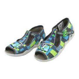 Befado obuwie dziecięce 217P104 niebieskie szare zielone 4