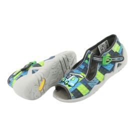 Befado obuwie dziecięce 217P104 niebieskie szare zielone 5