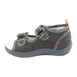 American Club American sandałki buty dziecięce wkładka skórzana TEN46 pomarańczowe szare 1