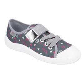 Befado obuwie dziecięce 251X138 różowe szare wielokolorowe 1